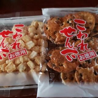 アウトレット米菓 ミニ揚げ餅桜塩、黒大豆せん(菓子/デザート)