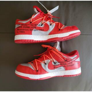 OFF-WHITE × NIKE DUNK LOW UNIVERSITY RED(スニーカー)