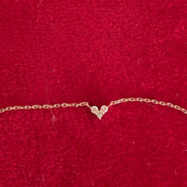 COCOSHNIK(ココシュニック)のココシュニックハートダイヤモンドネックレス レディースのアクセサリー(ネックレス)の商品写真