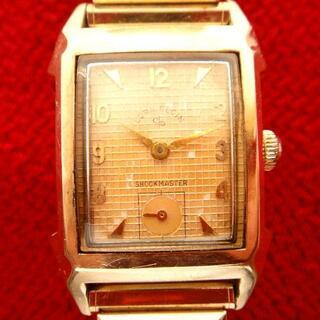 エルジン(ELGIN)の1950年代 エルジン 21石USA製 14金張 手巻きアンティーク腕時計(腕時計(アナログ))