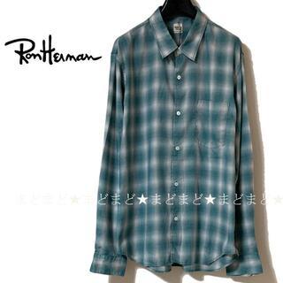 Ron Herman - 未使用 Ron Herman ロンハーマン オンブレ チェックシャツ L 長袖