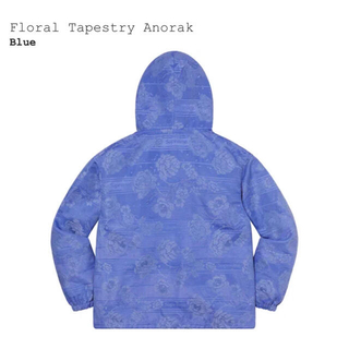 supreme Floral Tapestry Anorak Blue