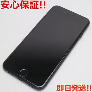 アイフォーン(iPhone)の美品 SIMフリー iPhone7 128GB ブラック (スマートフォン本体)