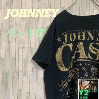 古着★Tシャツ johhny cash バンドT ブラック