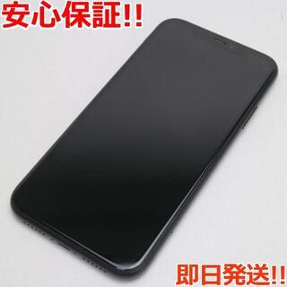アイフォーン(iPhone)の美品 SIMフリー iPhoneXR 64GB ブラック 白ロム (スマートフォン本体)