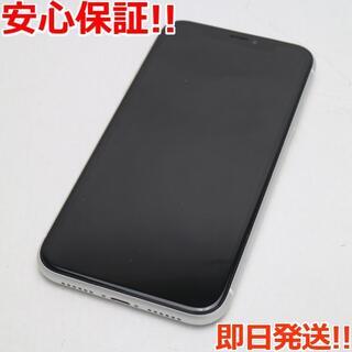アイフォーン(iPhone)の新品同様 SIMフリー iPhoneXR 64GB ホワイト 白ロム (スマートフォン本体)