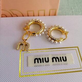 miumiu - 超美品 「Miumiu ミュウミュウ」ゴールド ピアス