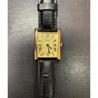 Cartier - 美品 稼動品 カルティエ マストタンク SV925 手巻き レディース