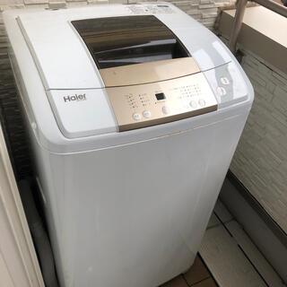 ハイアール(Haier)のハイアール洗濯機 7.0kg 2017年式 5年保証 22年8月2日まで(洗濯機)