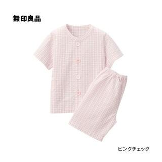 ムジルシリョウヒン(MUJI (無印良品))の新品 無印良品 パジャマ 半袖 100~110 ピンク(パジャマ)