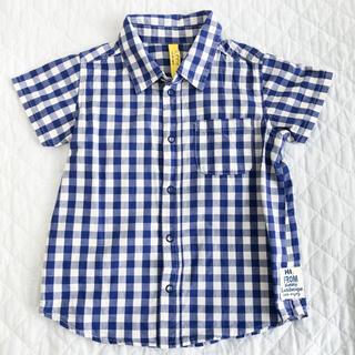 サニーランドスケープ(SunnyLandscape)のギンガムチェックの半袖シャツ 100センチ(ブラウス)