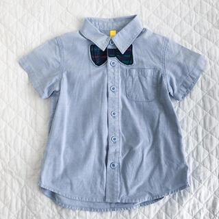 サニーランドスケープ(SunnyLandscape)の蝶ネクタイの半袖シャツ 100センチ(ブラウス)