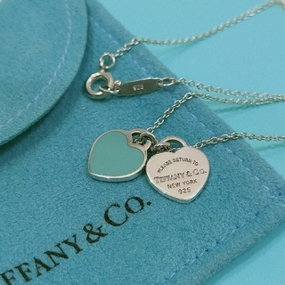 Tiffany & Co. - ティファニー  ミニダブルハートネックレス