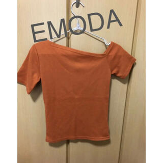 EMODA - エモダ EMODA ワンショルダー トップス オレンジ