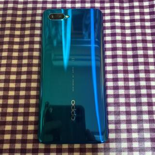 OPPO - OPPO  Reno A   64GB ブルー SIMフリー 美品 ケース付