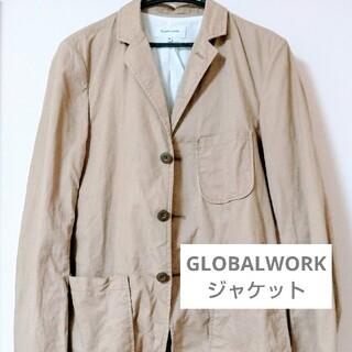 グローバルワーク(GLOBAL WORK)のグローバルワーク ジャケット ベージュ Mサイズ(テーラードジャケット)