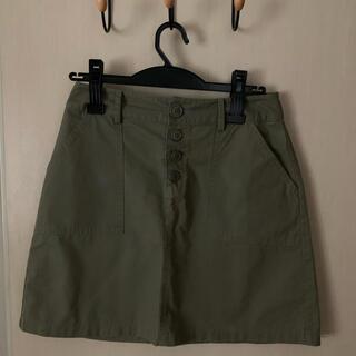 オゾック(OZOC)のカーキ OZOC 台形膝上スカート(ミニスカート)