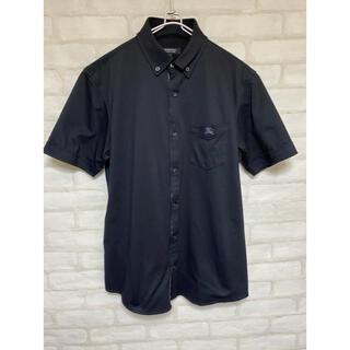BURBERRY BLACK LABEL - 美品 バーバリーブラックレーベル 半袖ポロシャツ 半袖シャツ ブラック Mサイズ
