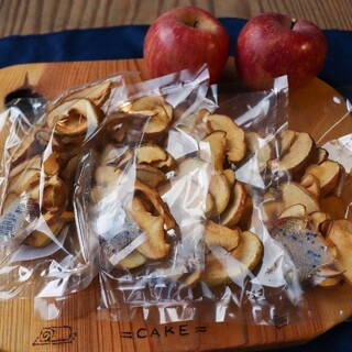 信州産 りんごチップス40g×4袋 無添加の甘いドライフルーツ(フルーツ)