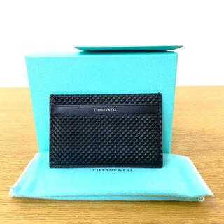 Tiffany & Co. - 美品 ティファニー カードケース レザー 黒 ブラック ☆ロエベ  セリーヌ