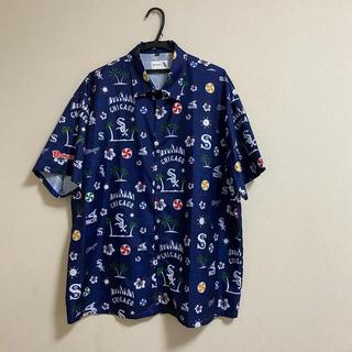 柄シャツ&NIKE ジャージポロシャツ(シャツ)