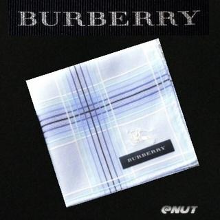 BURBERRY - BURBERRYハンカチ・スカイブルー グラデーション ノバチェック