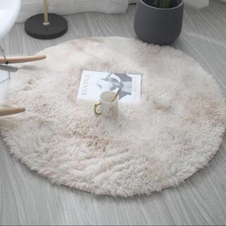 circle fur rug サークルファーラグ