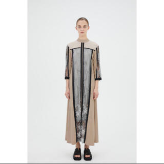 mame - MURRAL Framed flower dress (Beige) サイズ0
