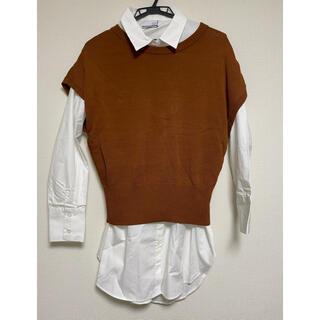 スコットクラブ(SCOT CLUB)の【タグ付き】スコットクラブ系列FENNEL ベストとシャツセット(シャツ/ブラウス(長袖/七分))