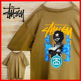 STUSSY - 【希少】OLD ステューシー tシャツ 半袖M ブラウン SSリンク フォト