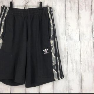 アディダス(adidas)のadidas アディダス ショートパンツ ハーフパンツ 迷彩 ライン グレー(ショートパンツ)