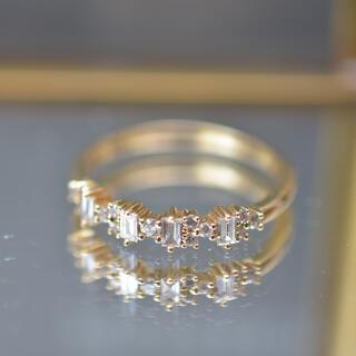 agete - べルシオラ ダイヤモンド リング 18金 11号