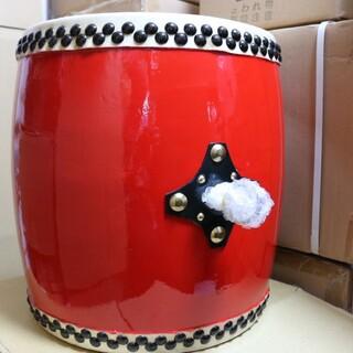 エイサー大太鼓中サイズ 直径役36cm×縦40cm バチ付 新品未使用(和太鼓)