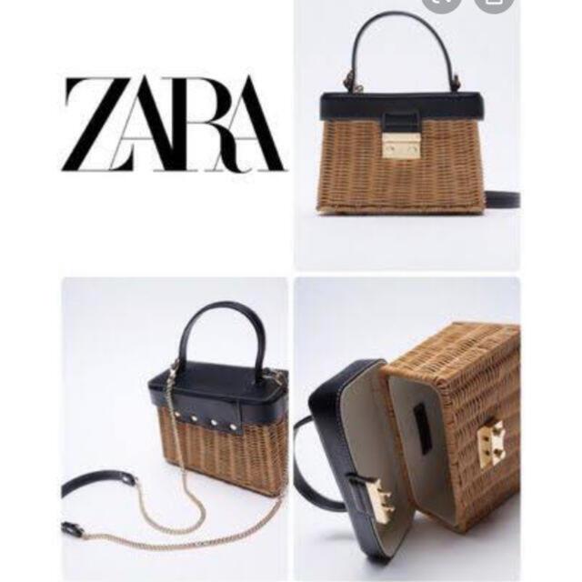 ZARA(ザラ)のZARA カゴバッグ レディースのバッグ(かごバッグ/ストローバッグ)の商品写真