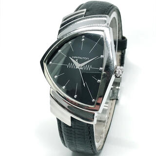 Hamilton - ハミルトン ベンチュラ H244112 メンズ 腕時計 クォーツ 革ベルト