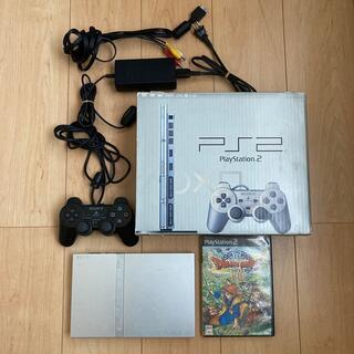 プレイステーション2(PlayStation2)のPlayStation2 SCPH-77000 本体 シルバー DQ8付(家庭用ゲーム機本体)