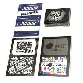 Johnny's - ★未開封★ SixTONES ツアーステッカー & トランプ(ステッカー無