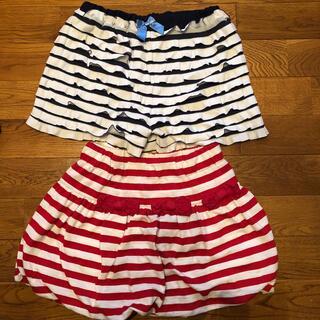 エニィファム(anyFAM)の140マリン柄紺any FAMキュロットパンツ&赤スカート(パンツ/スパッツ)