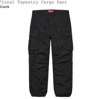 Supreme - Supreme Floral Tapestry Cargo Pant  黒
