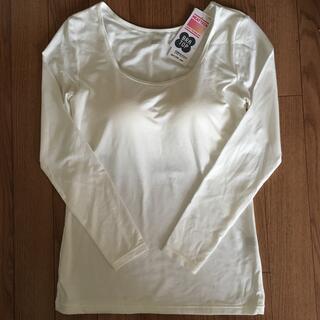 ユニクロ(UNIQLO)のヒートテックブラUネックT(八分袖)(アンダーシャツ/防寒インナー)