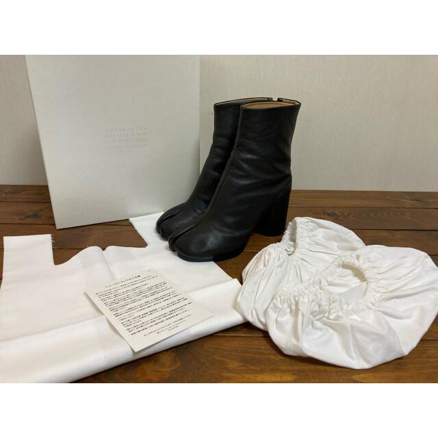 Maison Martin Margiela(マルタンマルジェラ)のマルタンマルジェラ 22 レザー 足袋ブーツ 38 メゾンマルジェラ 足袋 レディースの靴/シューズ(ブーツ)の商品写真