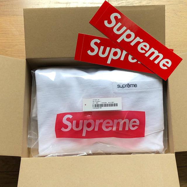 Supreme(シュプリーム)のsupreme  S/S Pocket Tee  白S メンズのトップス(Tシャツ/カットソー(半袖/袖なし))の商品写真