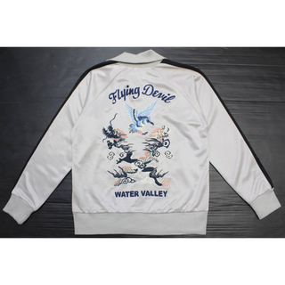 トウヨウエンタープライズ(東洋エンタープライズ)の東洋 スカジャージ スカジャン 刺繍 シルバー 鷹 龍(スカジャン)