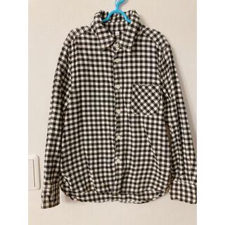 ムジルシリョウヒン(MUJI (無印良品))の無印良品 白×黒 チェックシャツ ネルシャツ 140cm(ブラウス)