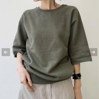 アパルトモンドゥーズィエムクラス(L'Appartement DEUXIEME CLASSE)のL'Appartement  Half Sleeve Sweat  カーキ(Tシャツ(半袖/袖なし))