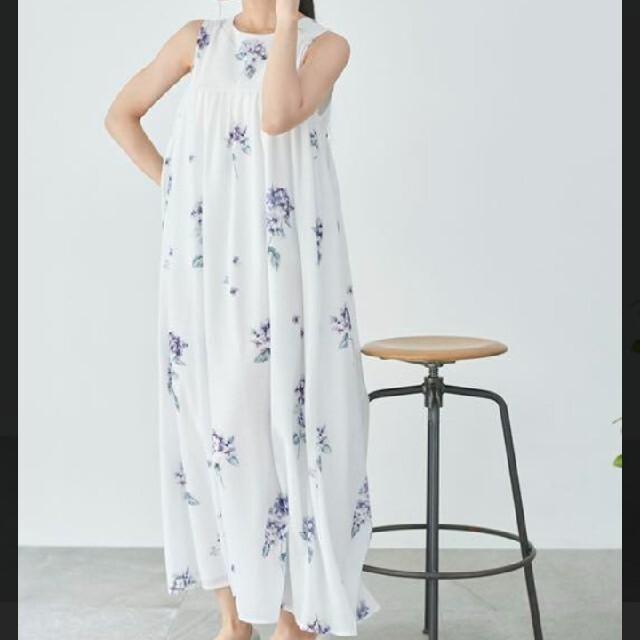 gelato pique(ジェラートピケ)の未使用あじさいドレス レディースのルームウェア/パジャマ(ルームウェア)の商品写真