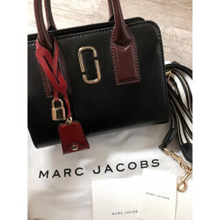 MARC JACOBS - MARC JACOBS マークジェイコブス ショルダーバッグ 黒×赤