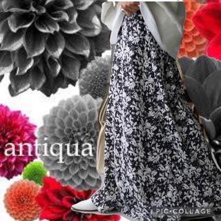antiqua - antiqua   花柄プリントフレアスカート 新品✨