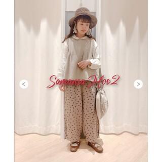 サマンサモスモス(SM2)の今季新品★サマンサモスモスSM2★裾タックパンツ モカ(カジュアルパンツ)