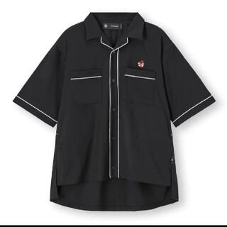 ジーユー(GU)のGU パイピングシャツ(5分袖)UNDERCOVER +E ブラック S(シャツ)